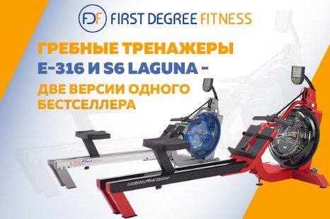 Гребные тренажеры Е-316 и S6 Laguna - две версии одного бестселлера