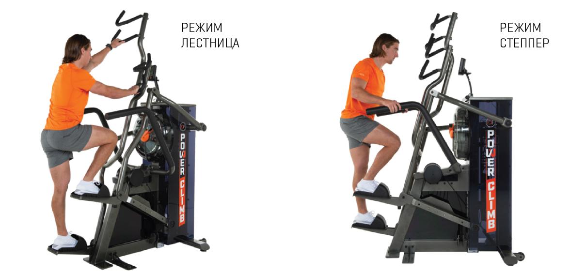 Примеры упражнений и их комбинации на PowerClimb