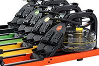 Гребной тренажер Neon - рама из стали четырех цветов